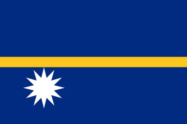 【外国旗】ナウル共和国国旗(テトロントロピカル) サイズ:70×105cm【領収書発行】