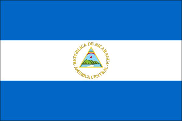 【外国旗】ニカラグア共和国国旗(テトロントロピカル) サイズ:90×135cm【領収書発行】