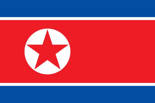 【外国旗】朝鮮民主主義人民共和国・北朝鮮国旗(アクリル) サイズ:90×135cm【領収書発行】