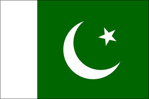【外国旗】パキスタン国旗(テトロントロピカル) サイズ:90×135cm【領収書発行】