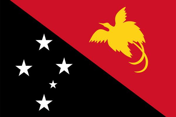 【外国旗】パプアニューギニア独立国国旗(テトロントロピカル) サイズ:90×135cm【領収書発行】