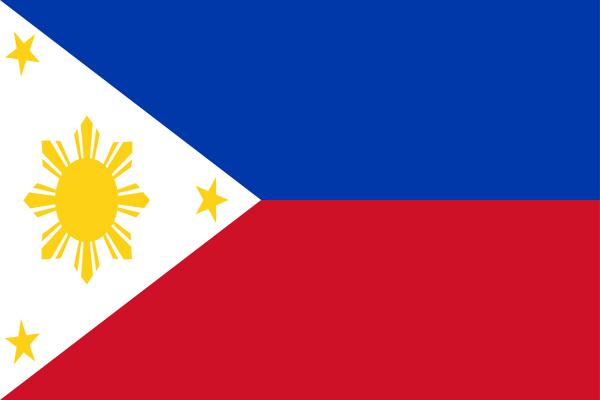 【外国旗】フィリピン国旗(アクリル) サイズ:90×135cm【領収書発行】