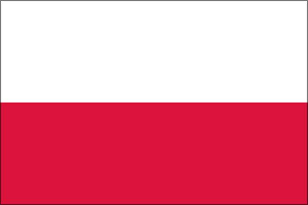 【外国旗】ポーランド国旗(アクリル) サイズ:90×135cm【領収書発行】