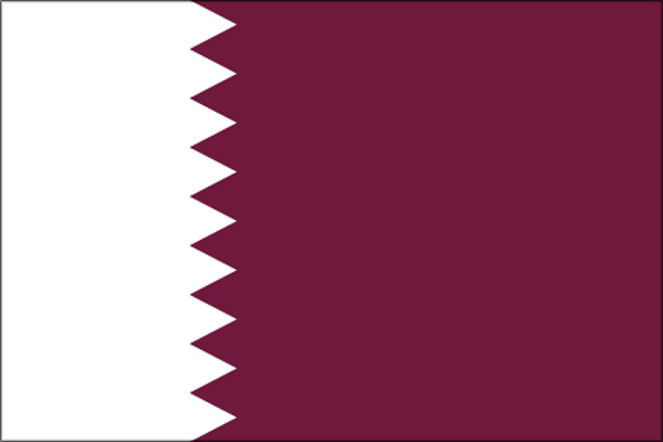 【外国旗】カタール国旗(アクリル) サイズ:90×135cm【領収書発行】