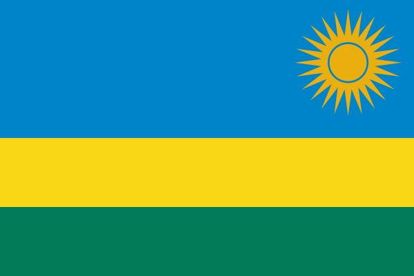 【外国旗】ルワンダ共和国国旗(アクリル) サイズ:90×135cm【領収書発行】