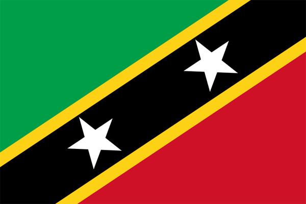【外国旗】セントクリストファー・ネーヴィス国旗(テトロントロピカル) サイズ:70×105cm【領収書発行】