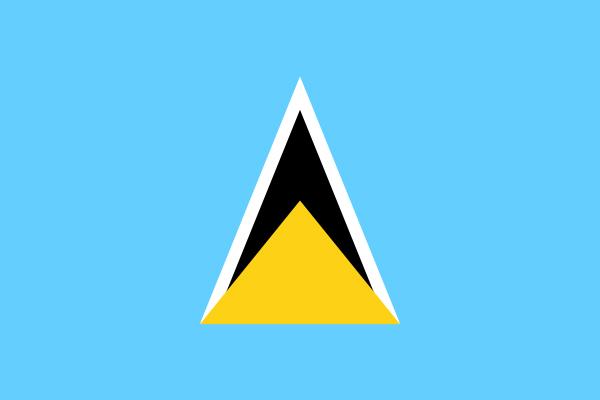 【外国旗】セントルシア国旗(アクリル) サイズ:90×135cm【領収書発行】