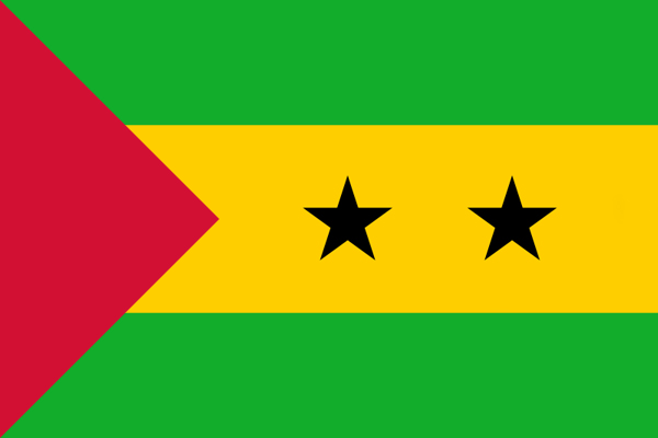 【外国旗】サントメ・プリンシペ民主共和国国旗(テトロントロピカル) サイズ:90×135cm【領収書発行】
