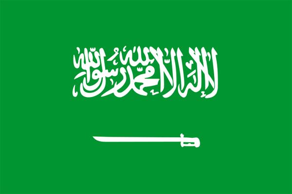 【外国旗】サウジアラビア国旗(アクリル) サイズ:90×135cm【領収書発行】