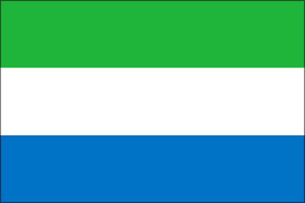 【外国旗】シエラレオネ共和国国旗(テトロントロピカル) サイズ:90×135cm【領収書発行】