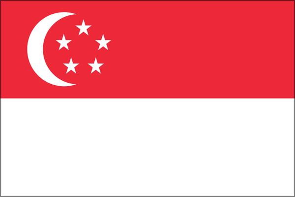 【外国旗】シンガポール国旗(アクリル) サイズ:90×135cm【領収書発行】