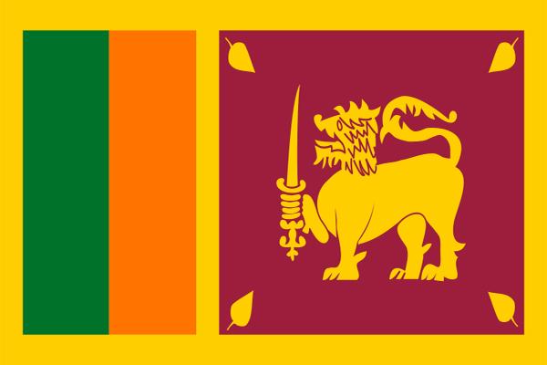 【外国旗】スリランカ国旗(アクリル) サイズ:90×135cm【領収書発行】