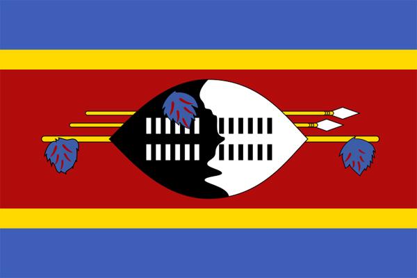 【外国旗】スワジランド王国国旗(アクリル) サイズ:90×135cm【領収書発行】