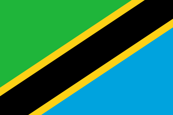 【外国旗】タンザニア連合共和国国旗(テトロントロピカル) サイズ:90×135cm【領収書発行】