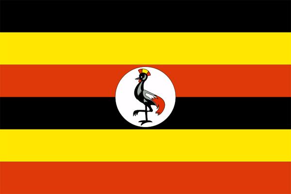【外国旗】ウガンダ共和国国旗(アクリル) サイズ:90×135cm【領収書発行】