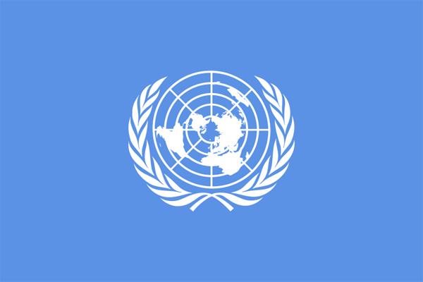【その他の国旗】国際連合旗(テトロントロピカル) サイズ:90×135cm【領収書発行】
