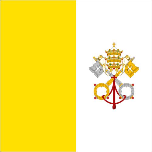 【外国旗】バチカン国旗(アクリル) サイズ:90×135cm【領収書発行】