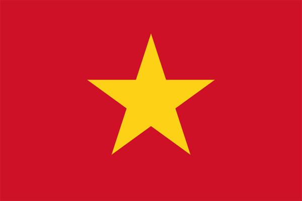 【外国旗】ベトナム国旗(テトロントロピカル) サイズ:90×135cm【領収書発行】