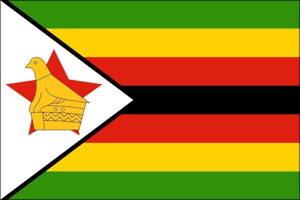 【外国旗】ジンバブエ共和国国旗(テトロントロピカル) サイズ:70×105cm【領収書発行】