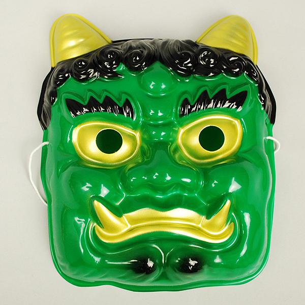 節分の日の装飾に活躍します お祭り用品 定価 青鬼面 プラスチック製 節分の装飾 領収書発行 日本製 サイズ:大