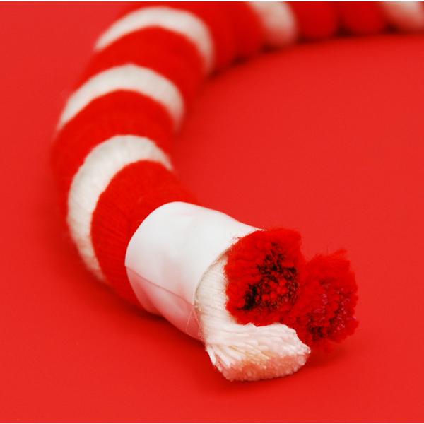 祝開店大放出セール開催中 人気ブランド多数対象 御神輿を飾る商品です お祭り用品 紅白紐 ひも 直径30mm 切り売り 領収書発行
