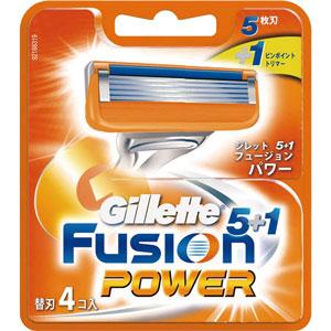 <title>ジレット フュージョン5 1パワー 替刃 4個入 配送分類:1 迅速な対応で商品をお届け致します</title>