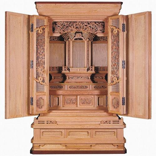 伝統型仏壇 屋久杉 堂造り オープン仕上げ 高さ175cm