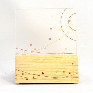 モダン見台 (過去帳台) 会津蒔絵 無限 ナチュラル 背低型 3.0寸 幅:約10cm