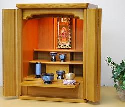モダン仏壇 ミニ ナザレ 18号 ライト色 仏壇セット 高さ54cm