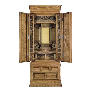 伝統型仏壇 アッシュ桑色 ブローチ障子 OP 21号 高172×巾70×奥58cm