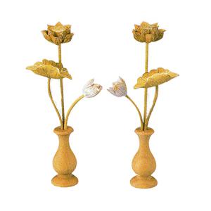 常花 ツゲ 切金淡彩色 中 高170mm