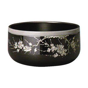 彫刻リン 墨艶色 桜彫 2.5寸 帯桜色