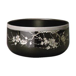 彫刻リン 墨艶色 桜彫 3.0寸 帯桜色