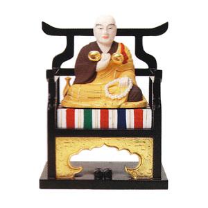 仏像 弘法大師 2.0 木製彩色 高110×巾99×奥行77mm