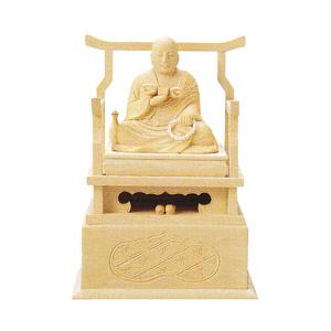 仏像 総白木 弘法大師 3.0 高225×巾160×奥行110mm