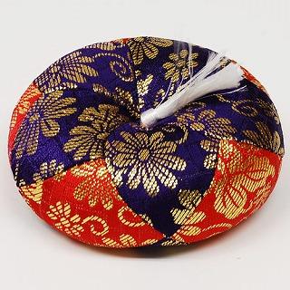 仏具 おりん りん リン リン布団 紫×赤 巾約9cm×高約3.5cm 金蘭 発売モデル リン棒 4年保証 2号