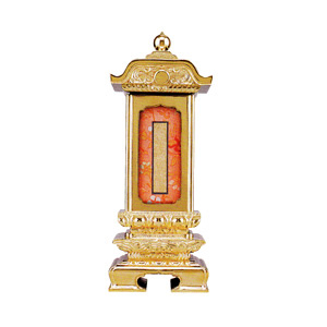 過去帳回出位牌 (過去帳繰り出し位牌) 純前金 柱付二重回出 鳥ノ子 6.0