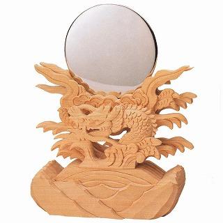 【送料無料】【神具】極上竜彫神鏡 2寸