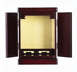 仏壇 ミニ 志摩 紫檀調 14号 高さ43cm