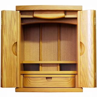 モダン仏壇 ミニ ジェノバ 14号 ライト色 高さ43×巾33×奥行28cm