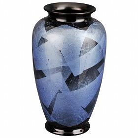 花瓶 九谷焼 銀彩 つゆ草 8号 高さ25.2cm