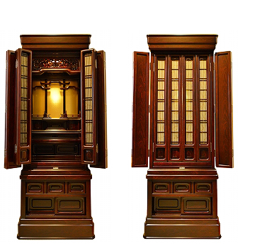 伝統型仏壇 葉月 紫檀調