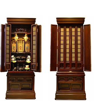 伝統型仏壇 葉月 紫檀調 仏壇セット