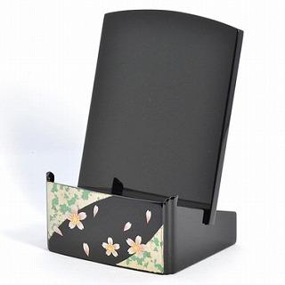 モダン見台 (過去帳台) 蒔絵 桜 3.5寸 おしゃれ 幅:約7.6cm