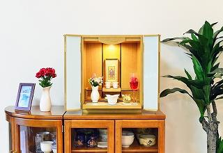 モダン仏壇 ミニ バルセロナ ホワイト 仏壇セット