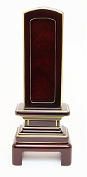 回出位牌 (繰り出し位牌) 吉野 #01 紫檀 45 表板(紫檀):1枚 中板:紫檀4枚