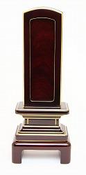 回出位牌 (繰り出し位牌) 吉野 #01 紫檀 50 表板(紫檀):1枚 中板:紫檀4枚