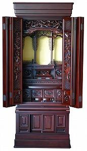 伝統型仏壇 天城 20号 紫檀 高165×幅67×奥58cm