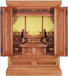 伝統型仏壇 ミニ 磐梯 23号 栓 高70×幅53×奥40.5cm