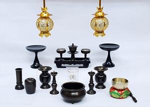 伝統型仏具 相模(さがみ) 灯篭高月付きセット